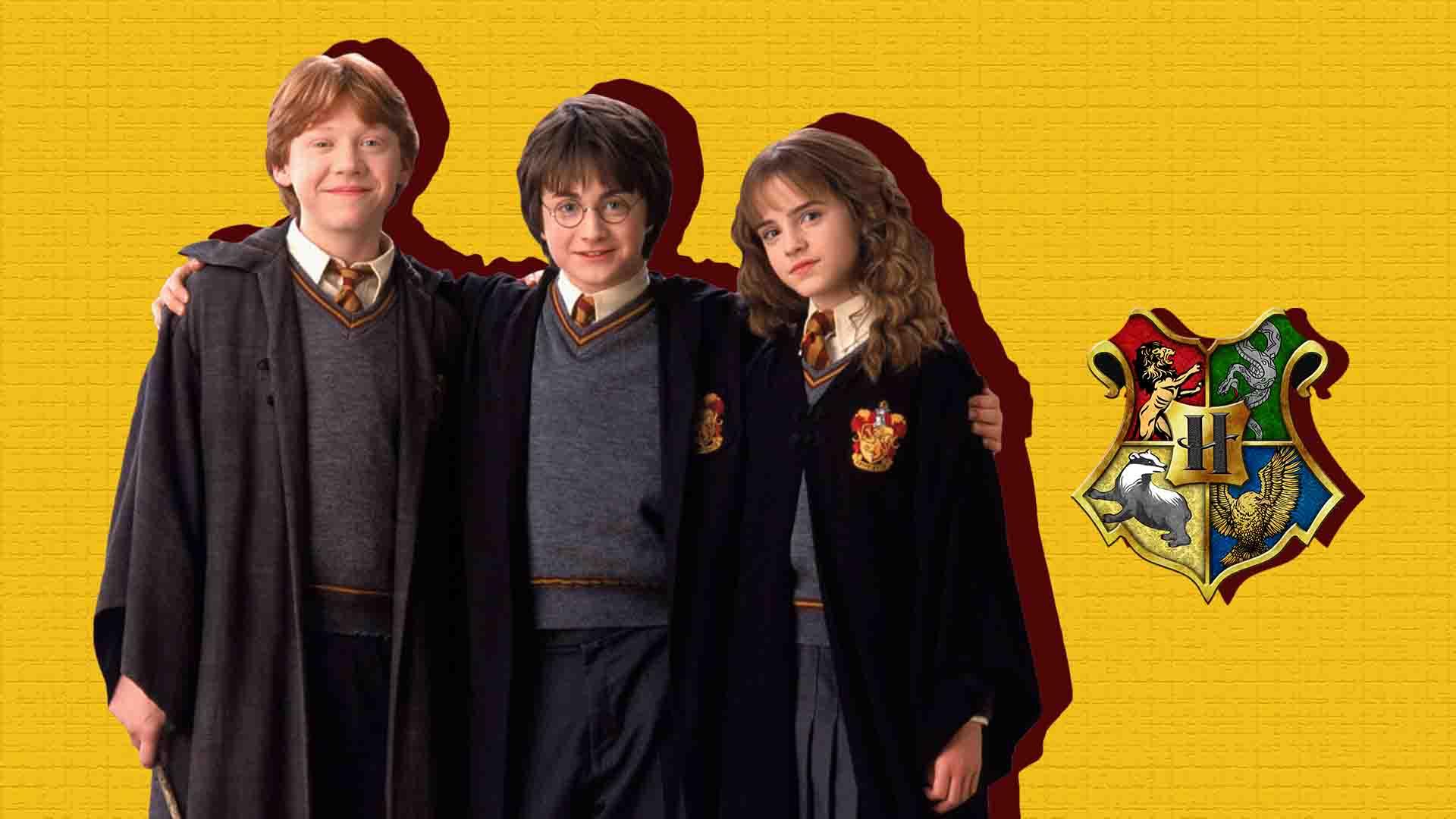 hermione, harry y ron de niños
