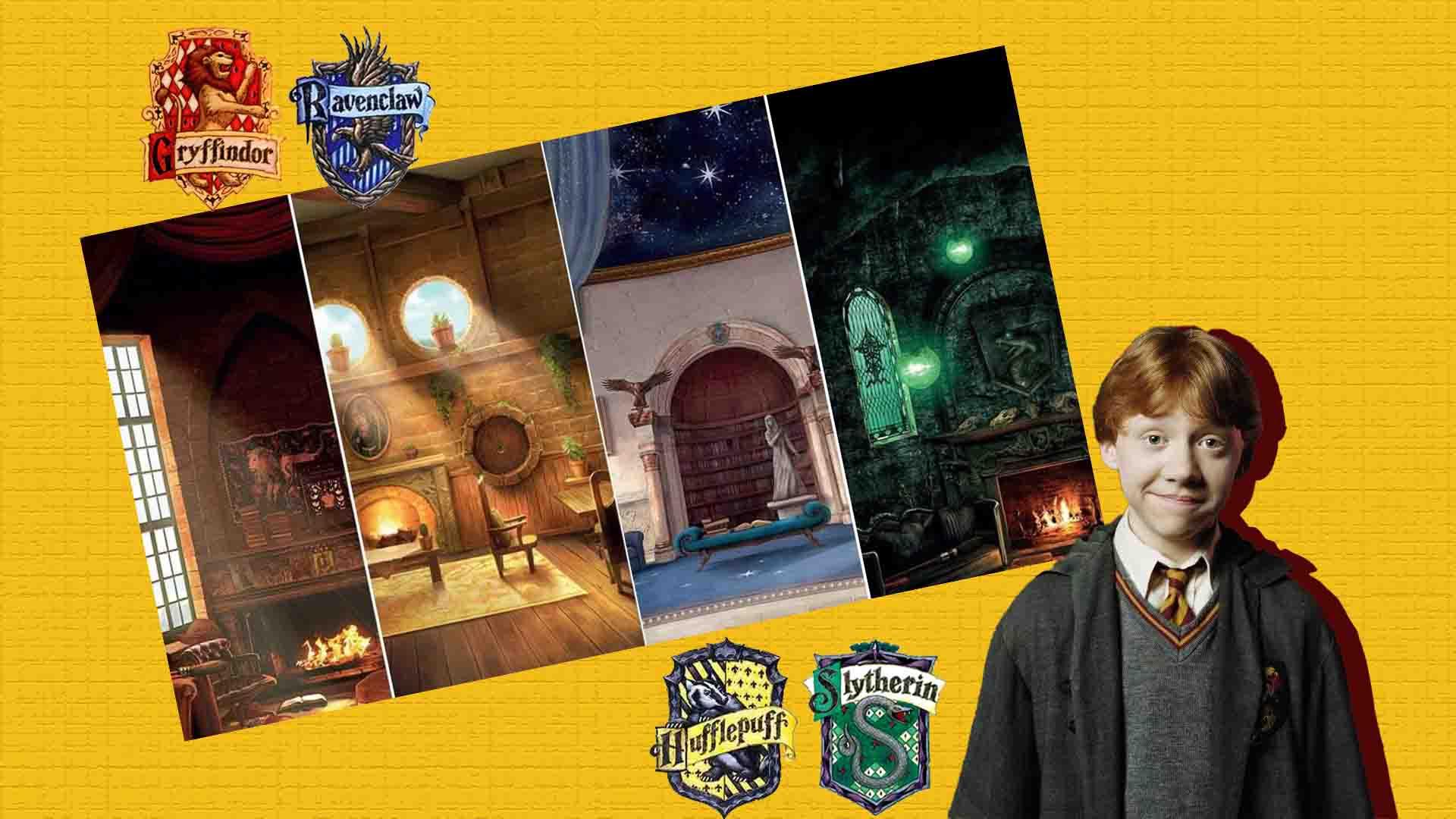 ron weasly y las salas comunes de hogwarts